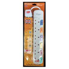 DT ENGLAND DT866 6GANG Extension Socket