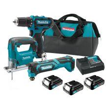 MAKITA CLX303SAX3 Drill / Multi-Tool / Jig Saw Kit (12V)