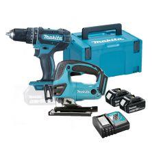 MAKITA DLX2209TJ Drill / Jig Saw Combo Kit (18V)