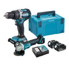 MAKITA DLX2215TJ Drill / Grinder Combo Kit (18V)