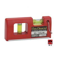 "EBISU Diamond ED10HLMR 4"" Magnet Spirit Level"