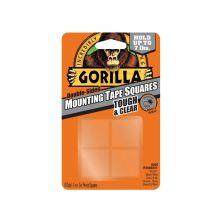 "GORILLA Tough & Clear Mounting Tape Squares (1""X1""X24PCS)"