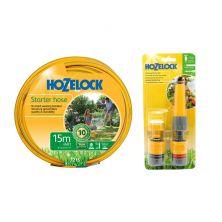 HOZELOCK 7215 Yellow 15M MAXI-PLUS Hose Kit (w/ 2352 Hose Fitting Set)