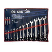 KING TONY 1275MR Comb. Spanner Set (15PCS)