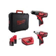 MILWAUKEE M12BPP2B-202B Combo Kit