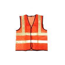 Orange Safety Vest Cross Reflector