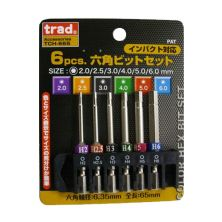 Trad TCH-665 Hex Bit Set (6 Piece)